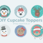Cupcakes Toppers de Noël  (Free Printable)