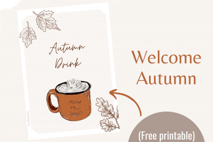 Affiche Imprimable Welcome Autumn (Free Printable)