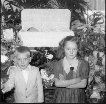 Shirley Showalter as a child and coffin
