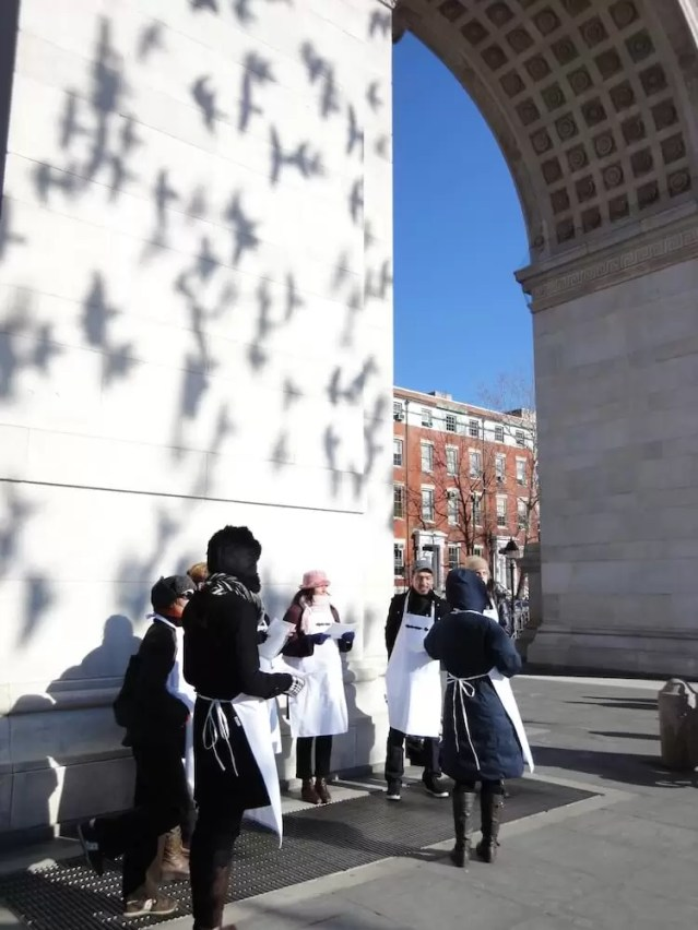 CoroDelantal en Washington Square Park
