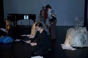 2011'IV'24. 'Triangle' at NYU Black Box Theater - rehearsal 1