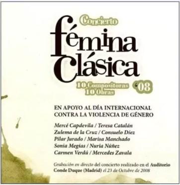2008'X'23. CD Fémina Clásica - Grabación de 'LBaila'