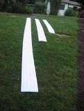2011'IX. Estreno de '25 Ciudades 50 calles' - partituras extendidas en el suelo