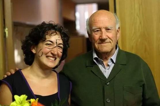 2010'V'8. Gira VBL - Almansa - tras el concierto, con el abuelo