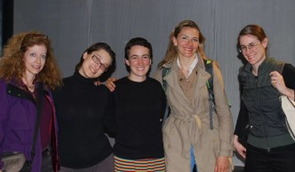 2011'IV'24. 'Triangle' at NYU Black Box Theater - Kathy Bruce, Laura Zogaros, Sonia Megias, Silvie Jensen and Megan Schubert
