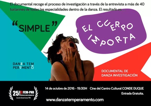 2016'X'14. Estreno documental 'Simple. El cuerpo importa'