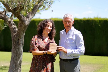 2017'VII'1. Godella (Valencia). Pepe Gimeno y Sonia Megías con el trofeo