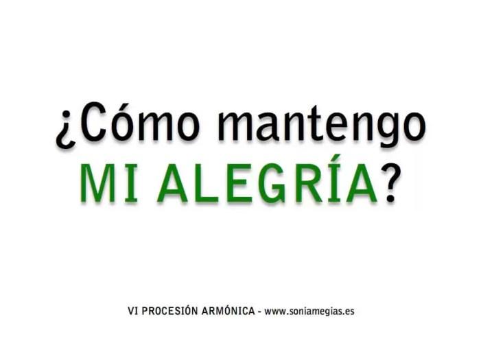 2014'IV'2. Madrid. VI Procesión armónica - pegatina ALEGRÍA