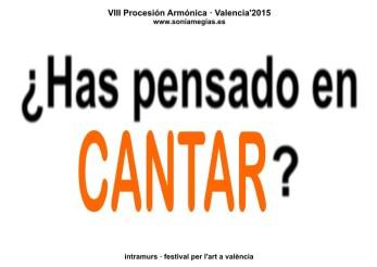 2015'X'31. Valencia. VIII Procesión armónica - pegatina CANTAR