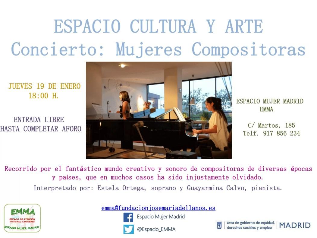 2017'I'19. Concierto de compositoras en Espacio Mujer Madrid
