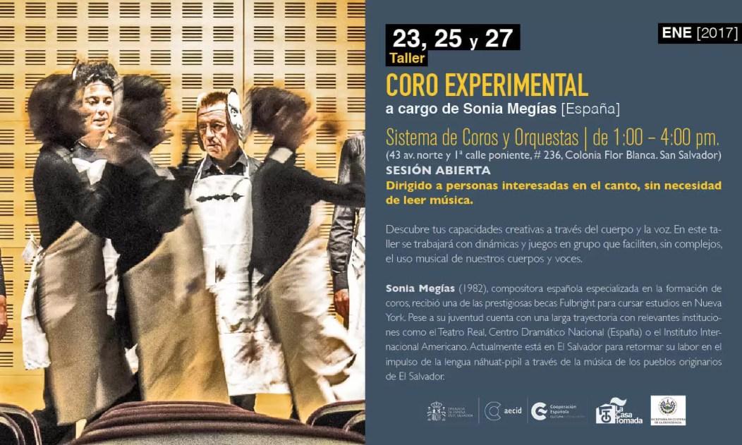 2017'I. San Salvador. Taller de coro experimental - cartel