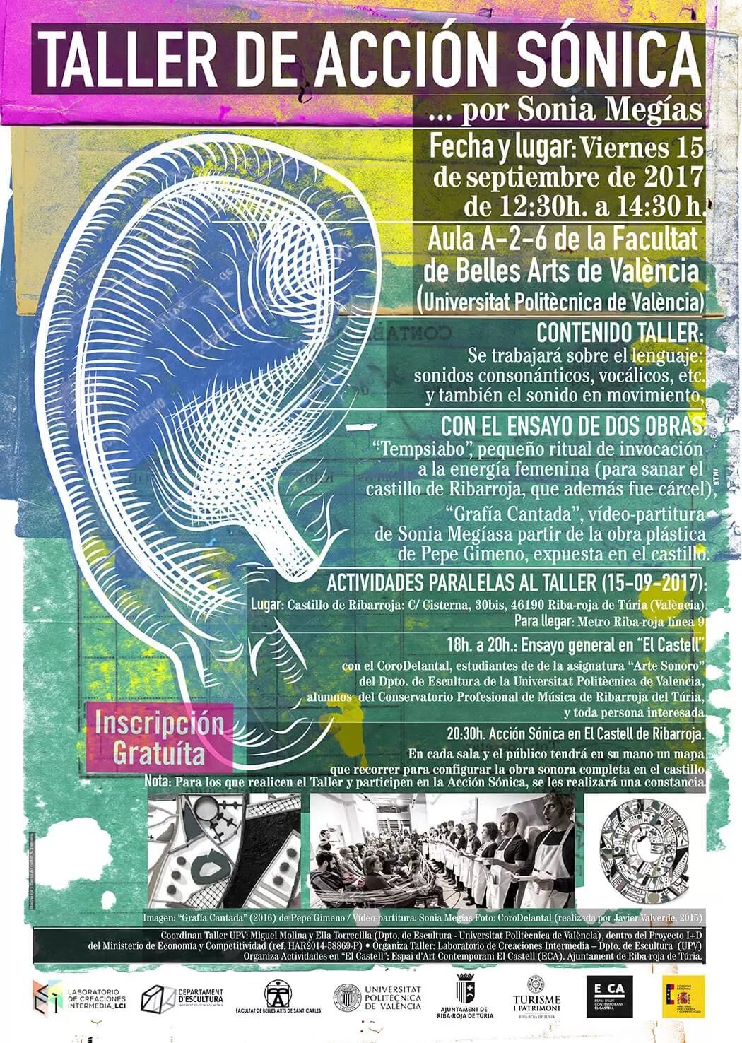 2017'IX'15. Valencia, UPV. Taller de Acción Sónica - cartel