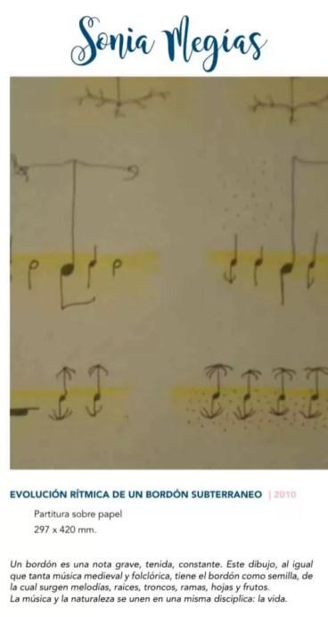'Evolución rítmica de un bordón subterráneo' Sonia Megías 2010