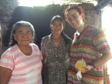 Santo Domingo de Guzmán, 2015. Con Antonia Ramírez y Paula López.