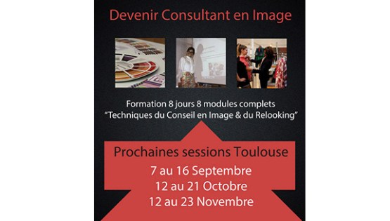 création flyer formation conseil en image relooking Toulouse