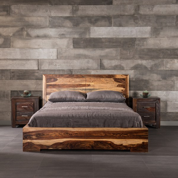 Ashton Solid Sheesham Wooden Hand Crafted Bed