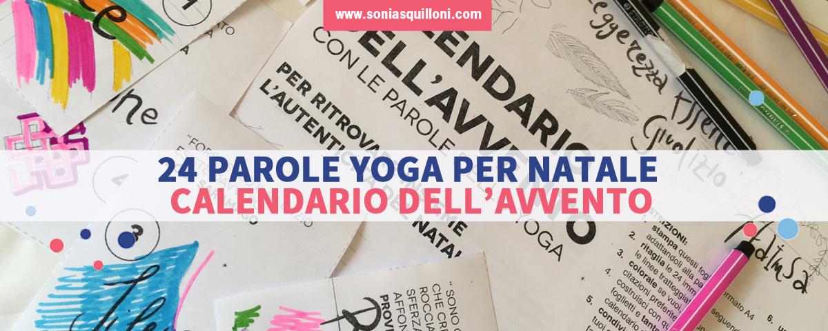 Calendario dell'Avvento con le Parole dello Yoga