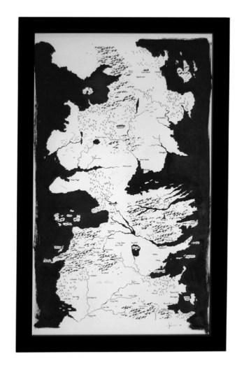 Póster mapa Poniente