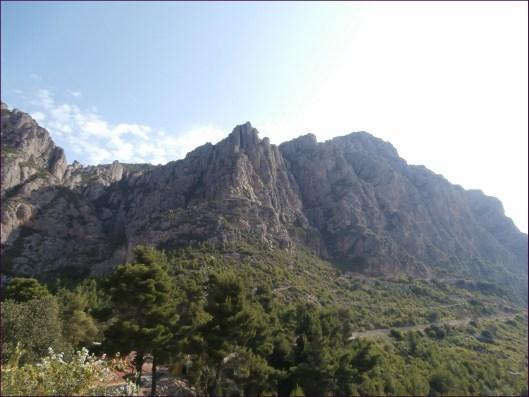 Vista de Montserrat desde el punto de partida