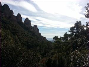 Vista casi a punto de llegar al Coll de Guirló, de lo que dejábamos atrás