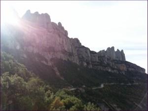 Vista de la montaña desde Santa Cecília