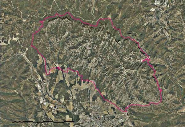 Mapa de la ruta, de la web del Patronat de Montserrat