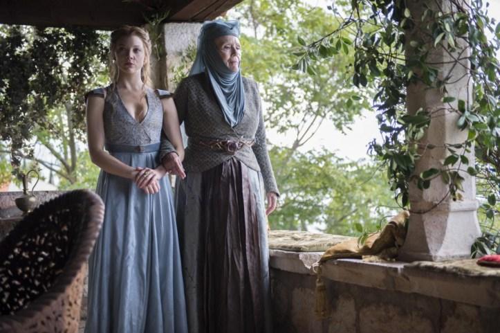 Margaery Tyrell (Natalie-Dormer) - Olenna Tyrell (Diana Rigg)