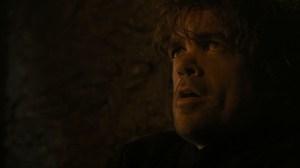 Y esta es la cara que se le queda a Tyrion ante la declaración de intenciones de Oberyn