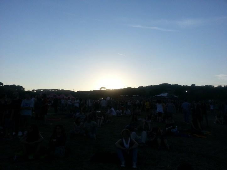 Puesta de sol en el Canet Rock