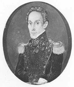 4....Antonio Meucci. Simón Bolívar. Miniatura sobre marfil 0,102 x 0,087.Cartagena, 1830.