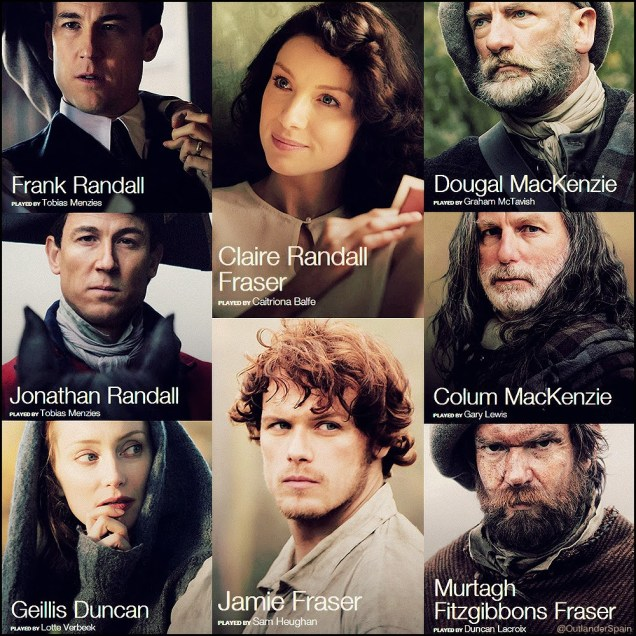 outlander starz reparto cast