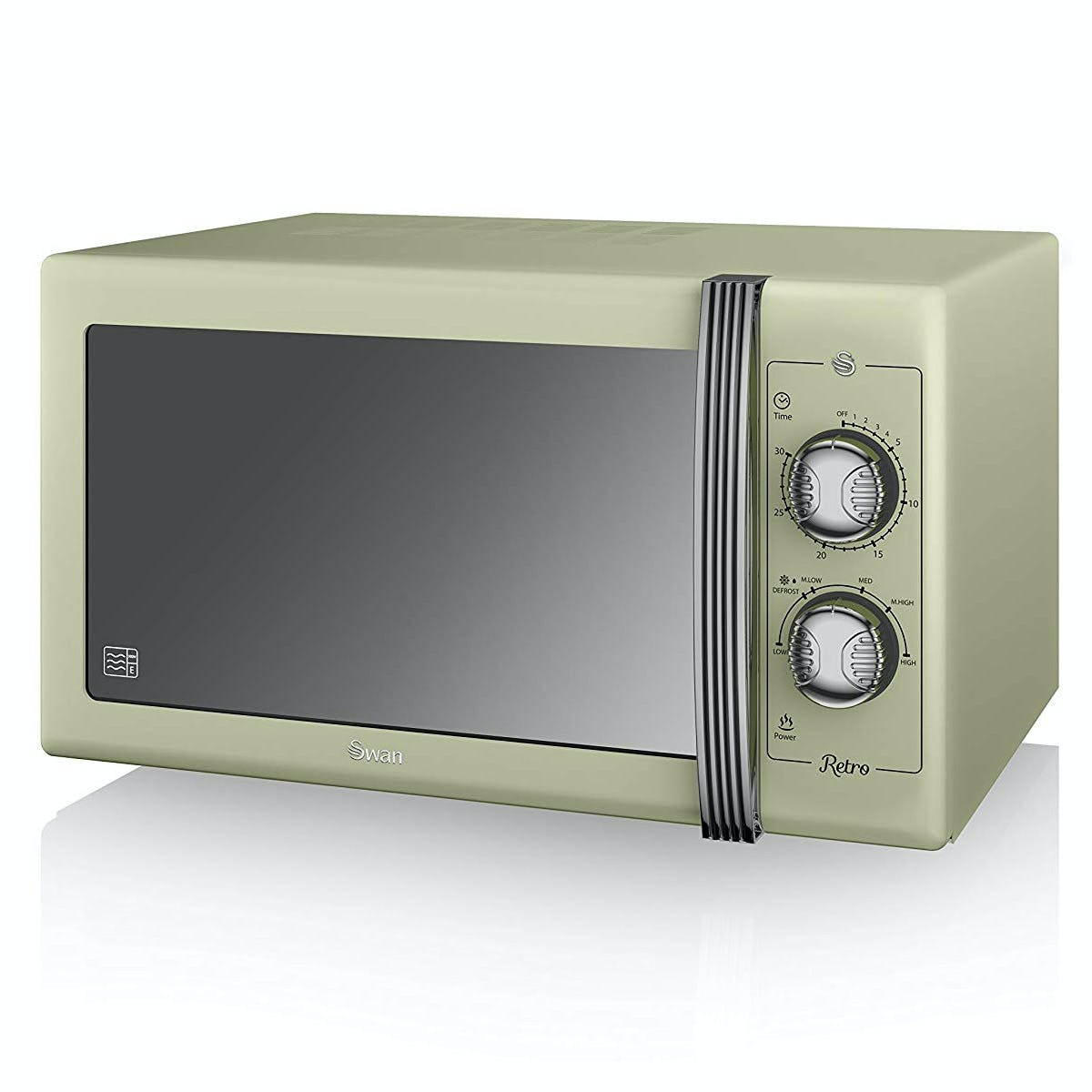 swan sm22070gn retro style microwave oven in green 25 litre 900w