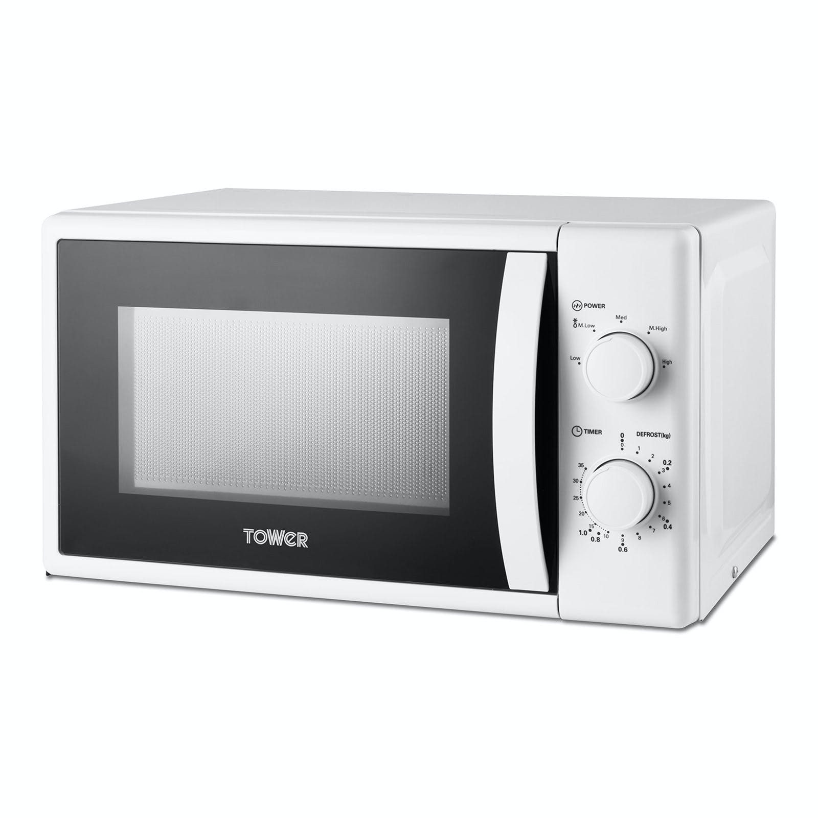 tower t24034wht microwave oven in white 20 litre 700w