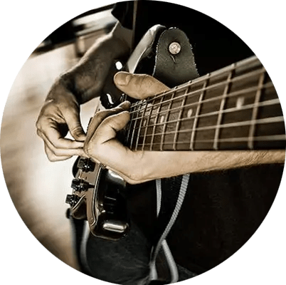 online piano lessons, online music lessons, online guitar lessons, guitar player closeup