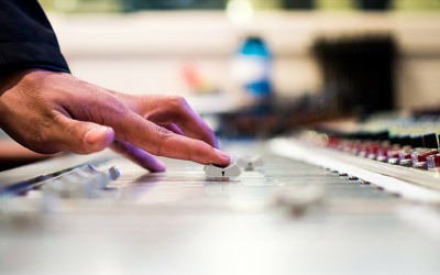 Audio editing for video production at SonicGrifMedia