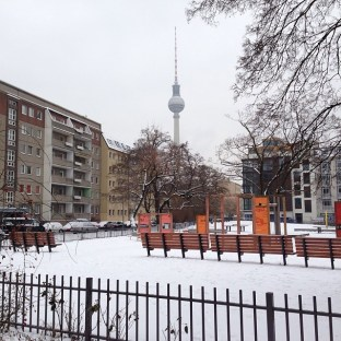 Playground in the snow, Berlin
