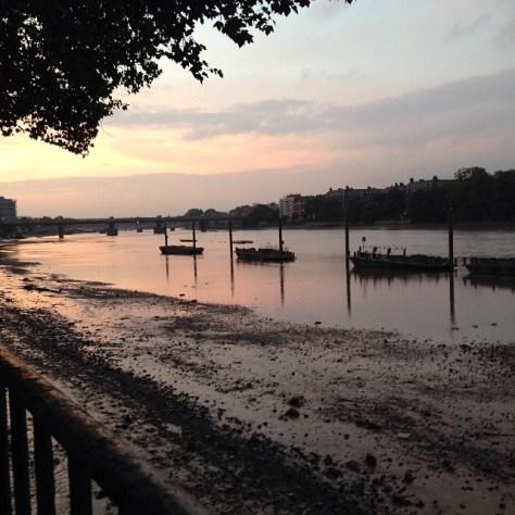 Dusk on the Thames, Wandsworth Park, London