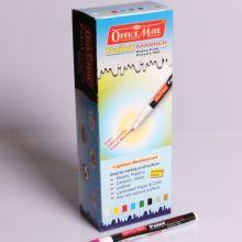 Soni Office Mate - Paint Marker Slim, Silver (Plastic Nib) in Pack of 10pcs 2