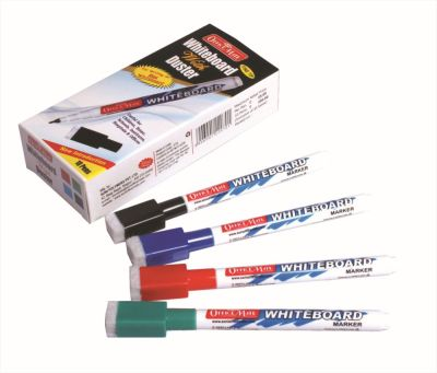 Soni Office Mate - Slim White Board Markers with Duster, Pack of 10 pcs 3
