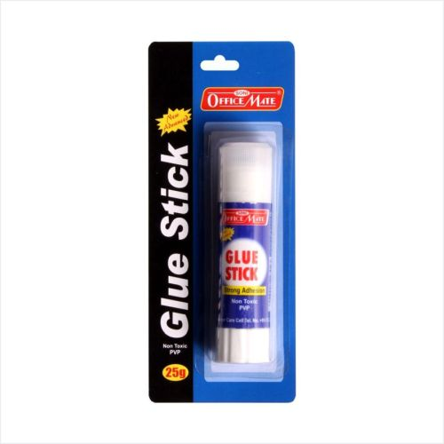 Soni Office Mate - Glue Stick 25g (Blister Packing), Pack of 10 pcs.