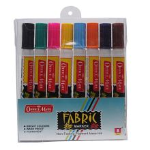 Soni Office Mate - Fabric Marker in Pack of 8 Pcs PP Box 1