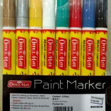 Soni Office Mate - Paint Marker in Regular Colors, Pack of 8 Pcs in PP Box