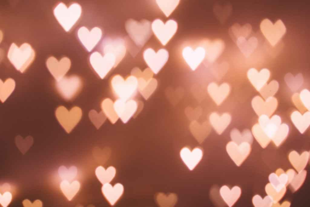 white heart prints