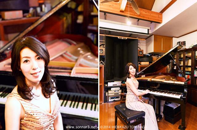 ピアニストの三宅美紀子さん。