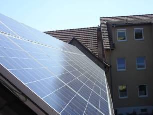 Solaranlage mit Q Cells in Erfurt/ Thüringen