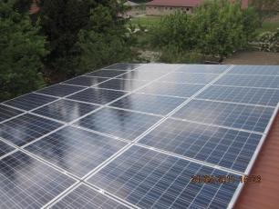 Photovoltaikanlage mit Q-Cells Modulen aus Sonneborn / LK Gotha