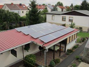 Photovoltaikanlage mit Q Cells Pro in Waltershausen/ Thüringen