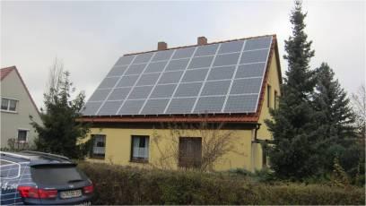 PV-Anlage mit IBC Modulen in Erfurt