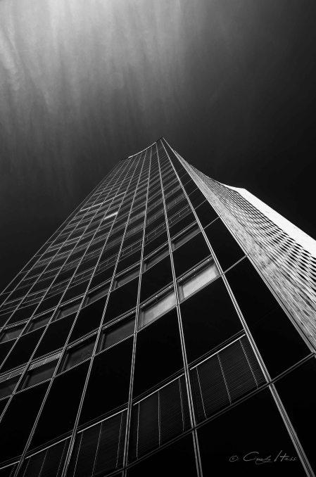 Leipzig, Hochhaus, skyscraper, mdr, b&w, minimal, architeture, Architektur