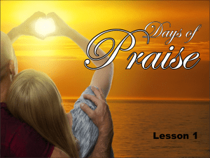 30 Days of Praise - Lesson 1